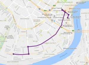Mardi Gras Parade Route 300x220 Krewe of Cleopatra Mardi Gras Parade Route February 2, 2018