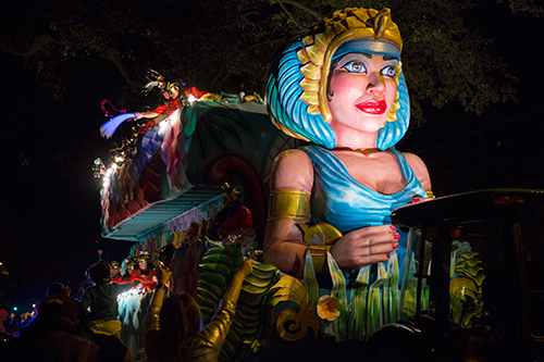 Cleopatra Float Krewe of Cleopatra Mardi Gras Parade Route February 2, 2018